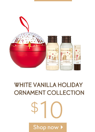 WHITE VANILLA HOLIDAY ORNAMENT COLLECTION