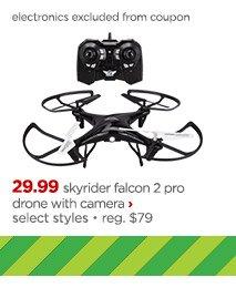 sky rider falcon 2 pro drone with camera