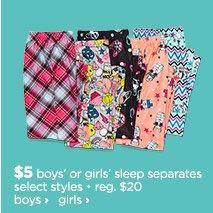 girls sleep separates
