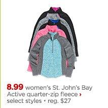 st johns bay active quarter zip fleece