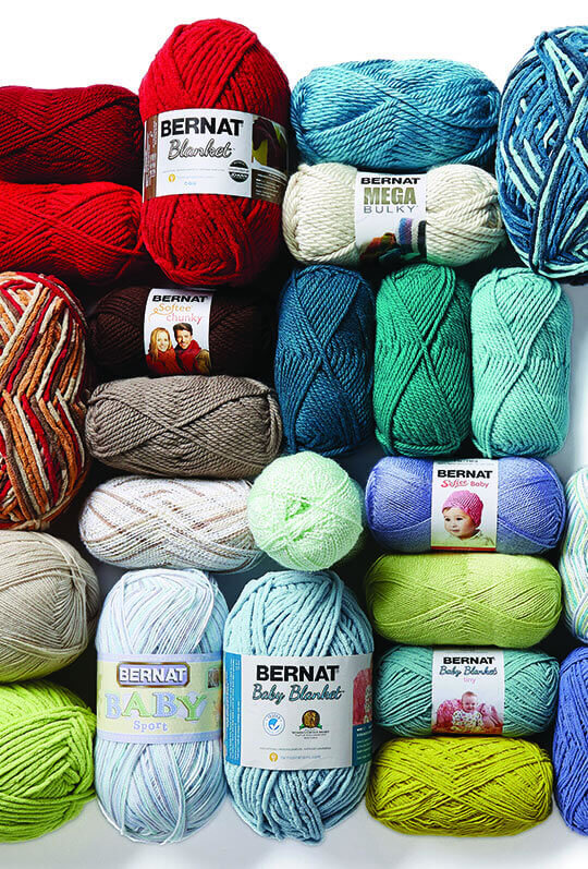 Entire Stock Bernat AND Baby Yarns.