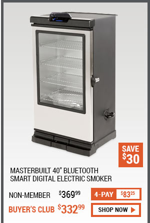 Masterbuilt 40 Inch Bluetooth Smart Digital Electric Smoker