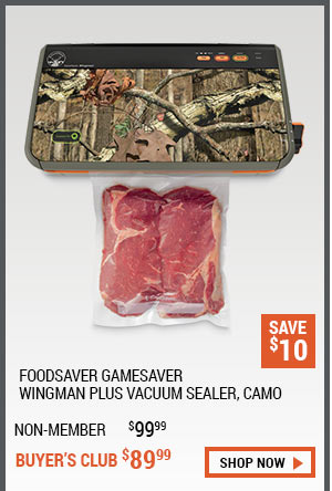 FoodSaver GameSaver Wingman Plus Vacuum Sealer, Camo