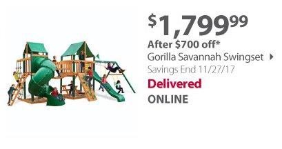 Gorilla Swingset