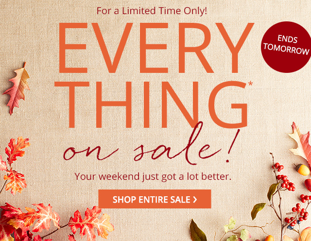 Everything on sale! Shop entire sale.