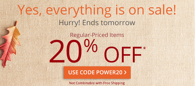 Yes, everything is on sale! Use code POWER20.