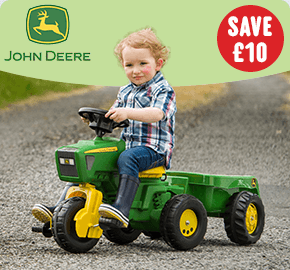 John Deere Tractor and Trailer with Steering Wheel Sounds