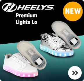 Heelys Premium Lights Lo Silver/Chrome/Triple White