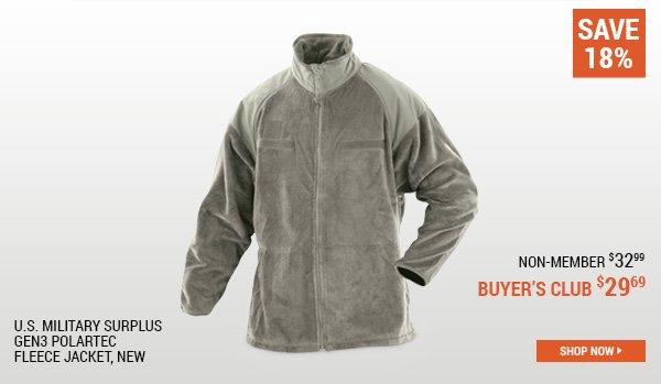 U.S. Military Surplus Gen3 Polartec Fleece Jacket, New