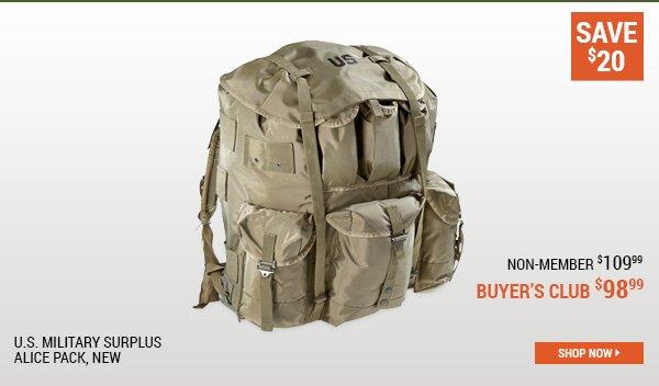 U.S. Military Surplus ALICE Pack, New