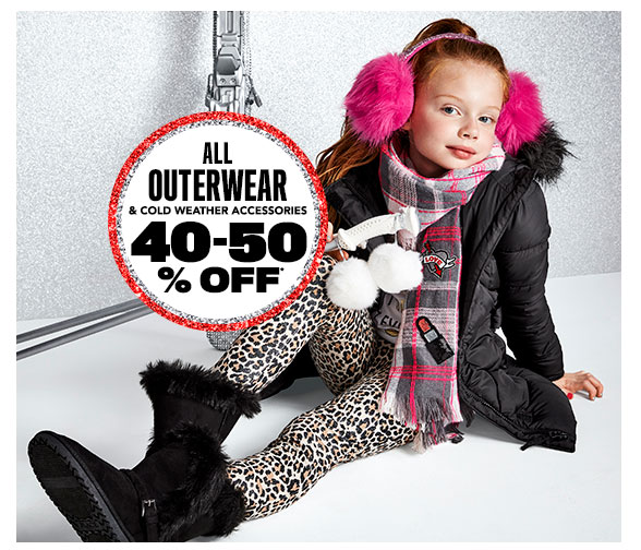 All Outerwear & Cold Weather Accessories 40-50% Off