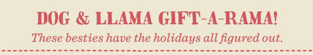 Dog & Llama Gift-a-Rama - Watch Now ›