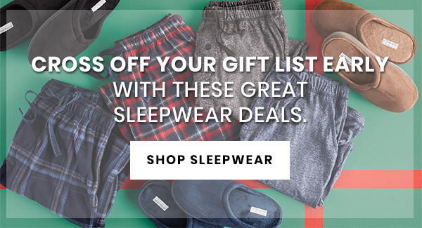 Great Sleepwear Deals - SHOP NOW
