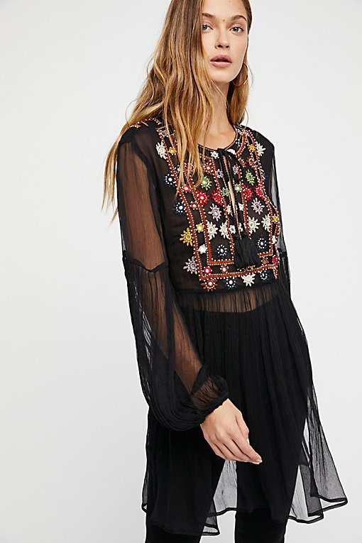 Wanderlust Embroidered Tunic