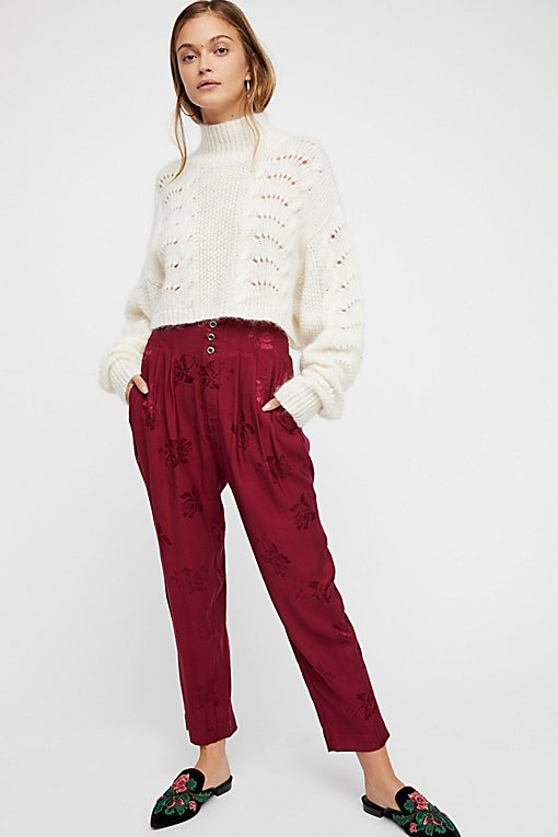Day Dreamer Silky Jacquard Pant