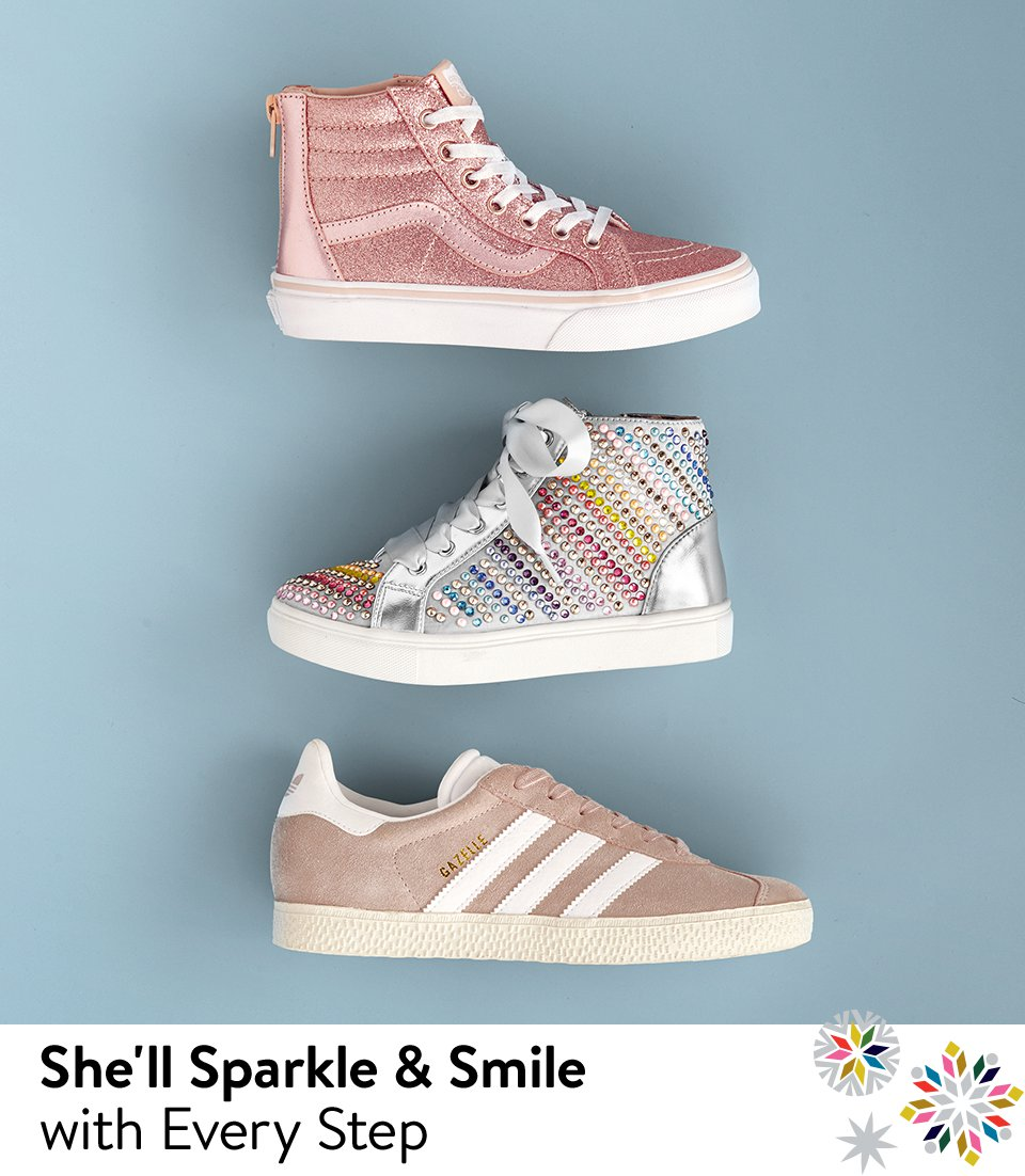 She'll sparkle and smile with every step.