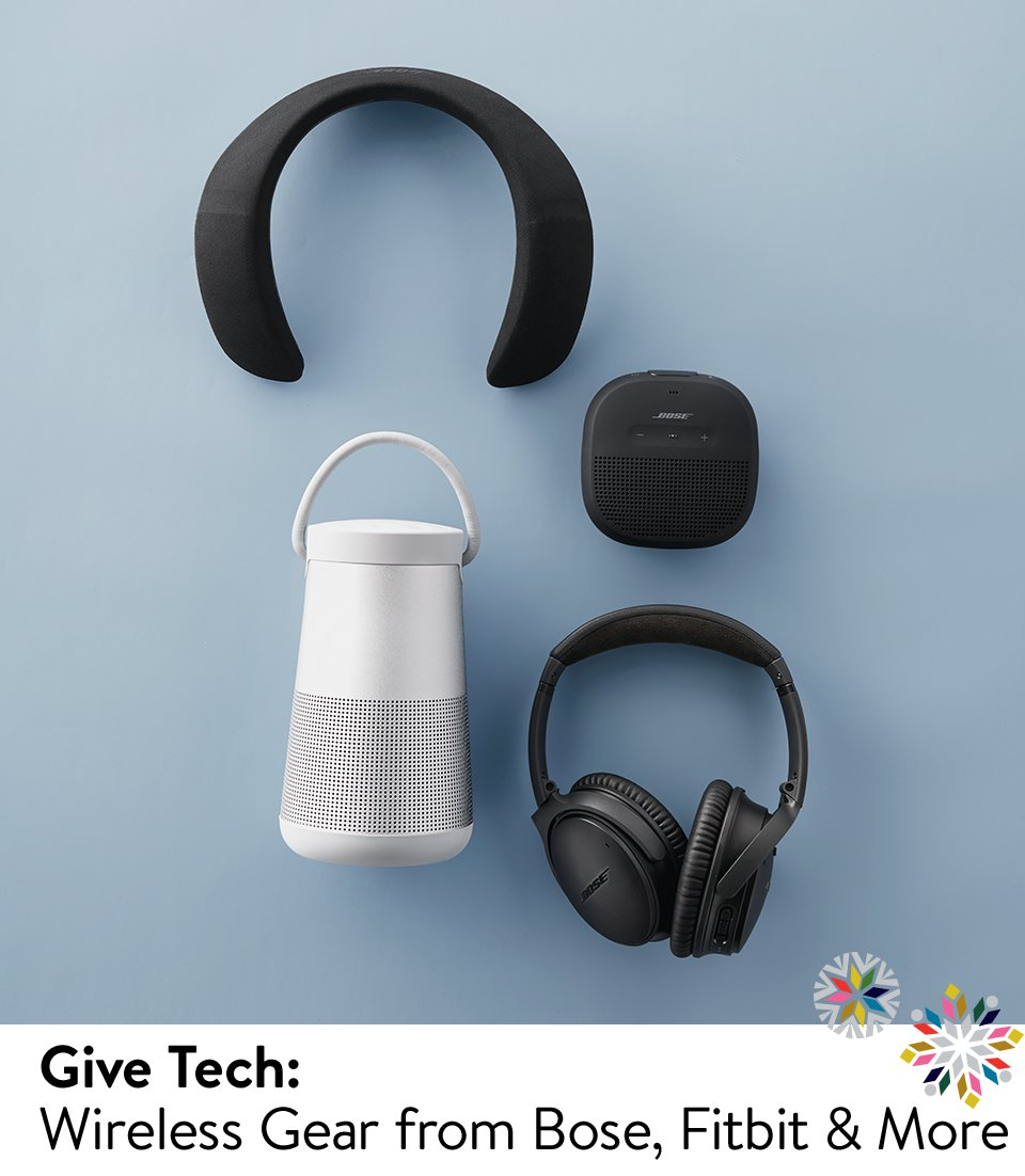 Give tech: wireless gear from Bose, Fitbit and more.