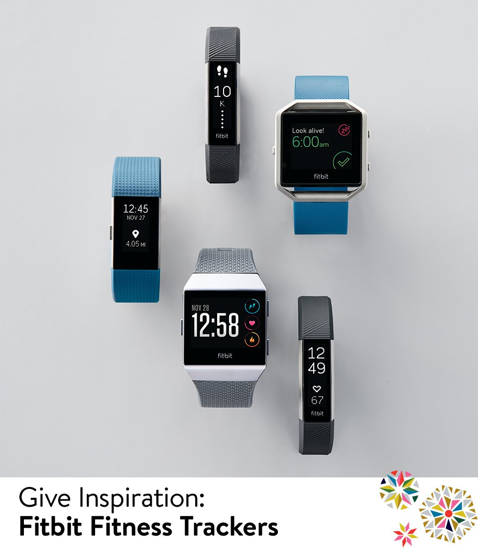 Give inspiration with Fitbit fitness trackers.
