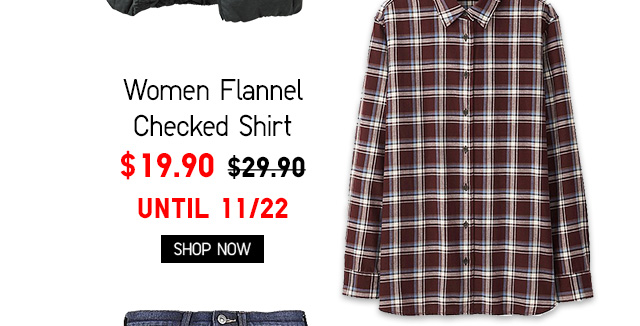 Women Flannel Checked Shirt $19.90 - Shop Now