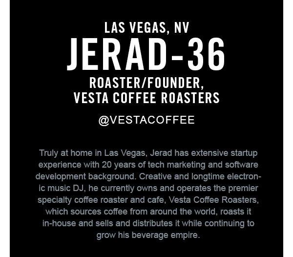 Jerad, founder, vesta coffee