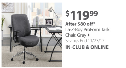 La-Z-Boy ProForm Task Chair - Gray