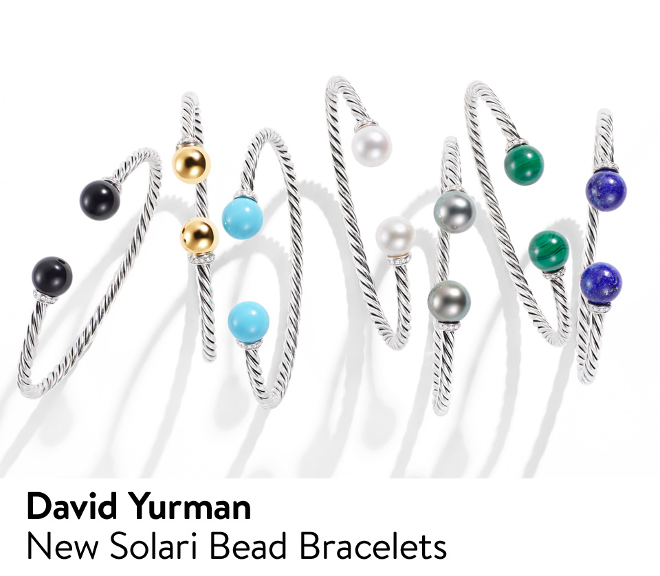 David Yurman: new Solari bead bracelets.