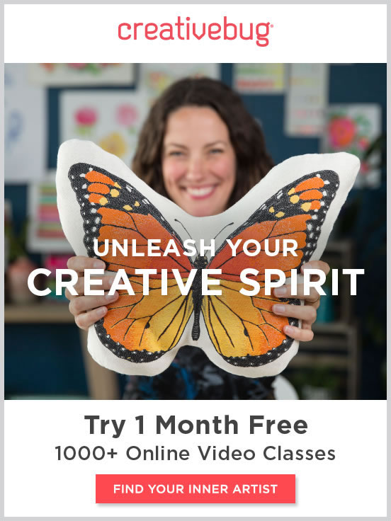 Learn with Creative Bug. Try 1 month Free. FIND YOUR INNER ARTIST.