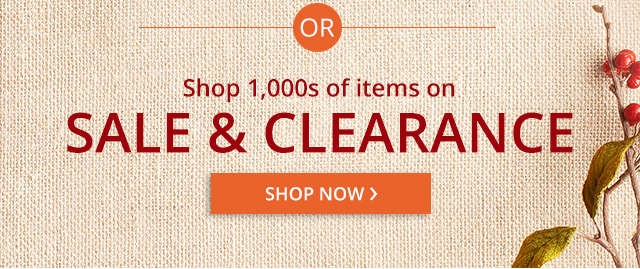 Shop 1000s of items on sale and clearance