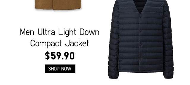 Men Ultra Light Down Compact Jacket $59.90 - Shop Now
