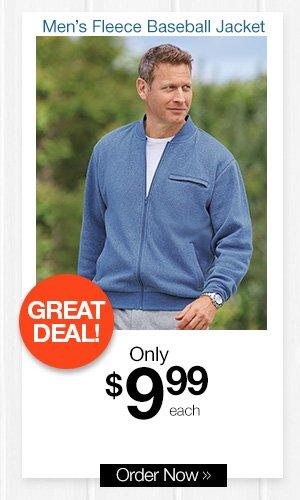 Men's Fleece Baseball Jacket