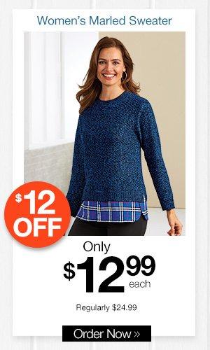 Women's Marled Sweater