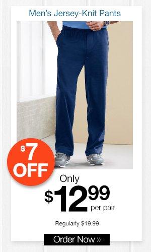 Men's Jersey-Knit Pants