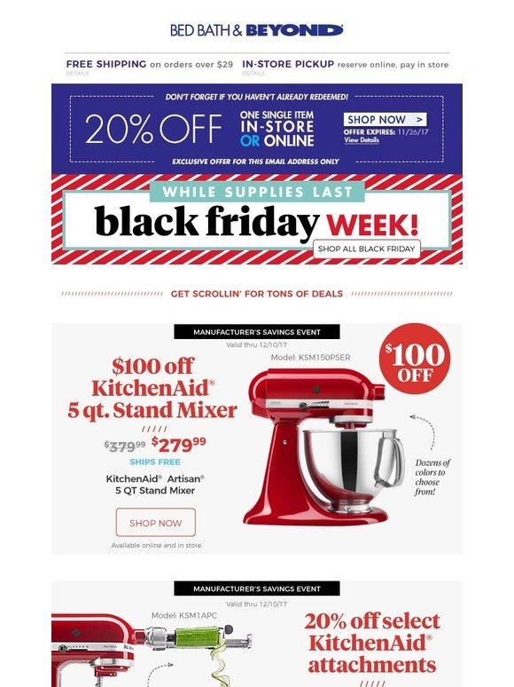 Bed Bath And Beyond Black Friday Deals Are Here This Is