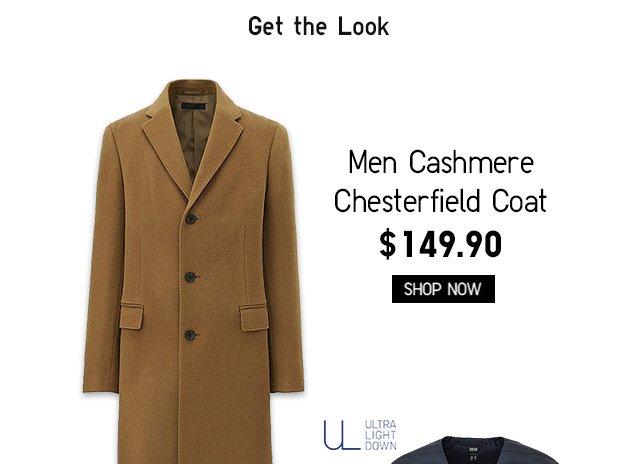 Men Cashmere Chesterfield Coat $149.90 - Shop Now