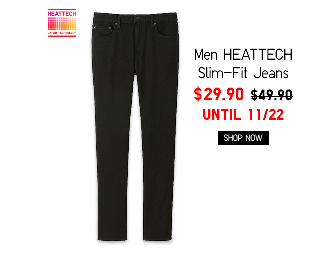 Men HEATTECH Slim-Fit Jeans $29.90 - Shop Now