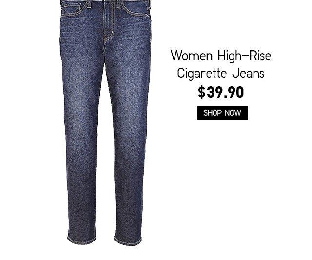 Women High-Rise Cigarette Jeans $39.90 - Shop Now