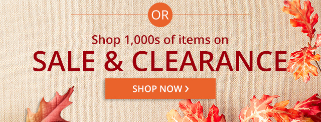 Shop 1000s of items on sale & clearance.