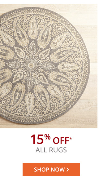 15% off* all rugs