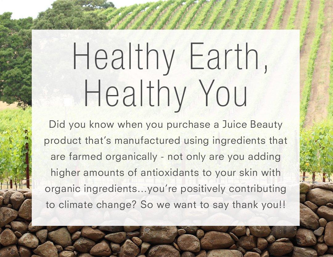 Healthy Earth, Healthy You