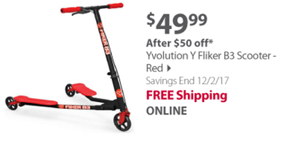 """""""Yvolution Y Fliker B3 Scooter - Red"""""""