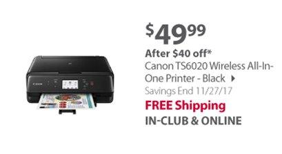 """""""Canon TS6020 Wireless All-In-One Printer - Black"""""""
