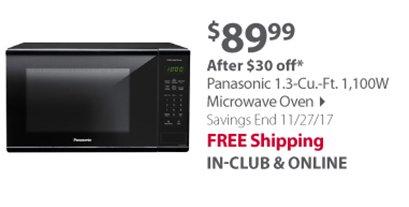 Panasonic 1.3-Cu.-Ft. 1,100W Microwave Oven - Black