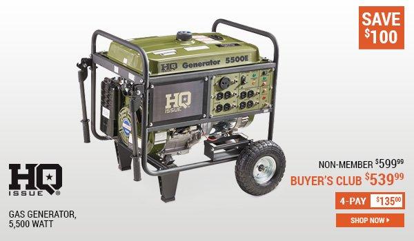 HQ Issue Gas Generator, 5,500 Watt height=