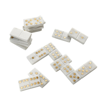Marble Domino Set, CB2 $129
