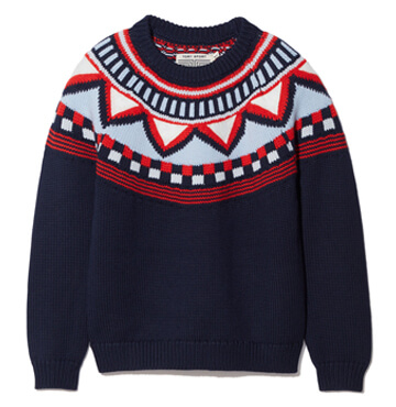 Tory Burch Performance Merino Fair Isle Sweater $295