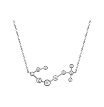 Logan Hollowell Scorpio Diamond Constellation Necklace $1500