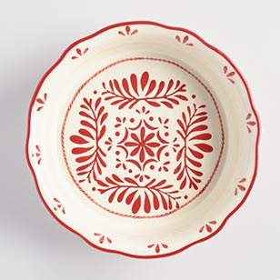 Red Scandinavian Pie Plate