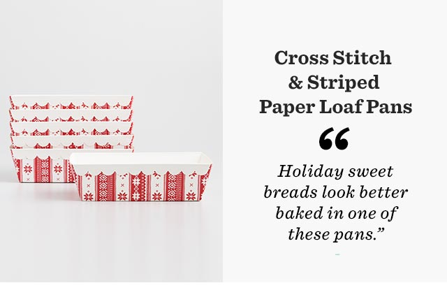 Cross Stitch & Striped Paper Loaf Pans
