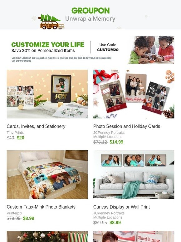 groupon extra 20 off personalized gifts milled