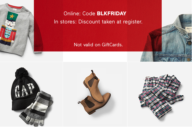 Online: Code BLKFRIDAY